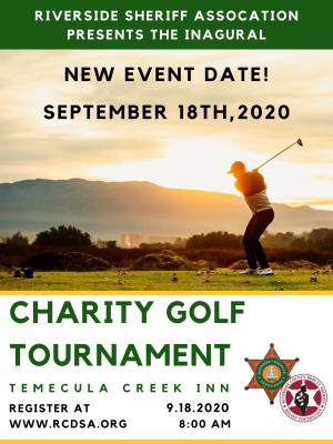 RCDSA Golf Tournament Postponed To September 18th!
